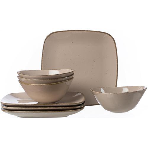 Ritzenhoff & Breker Tafelservice CASA, (Set, 8 tlg.), Vintage Look braun Geschirr-Sets Geschirr, Porzellan Tischaccessoires Haushaltswaren