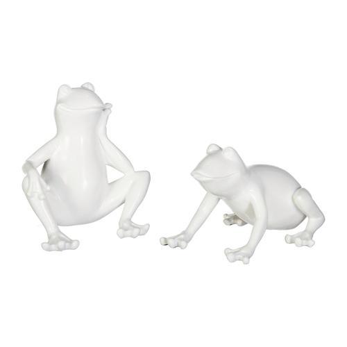Creativ home Tierfigur, 2er Set weiß Tierfigur Tierfiguren Figuren Skulpturen Wohnaccessoires