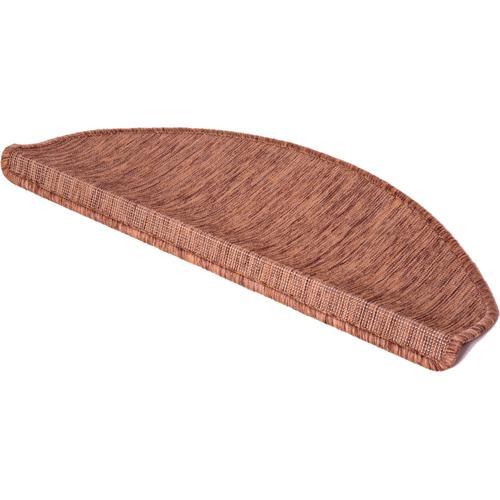 LUXOR living Stufenmatte York, halbrund, 8 mm Höhe, Sisal-Optik, meliert, 15 Stück in einem Set braun Stufenmatten Teppiche