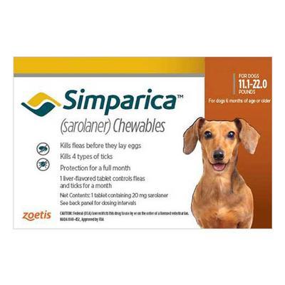Simparica For Small Dogs 5.1-10kg (Orange) 3 Doses
