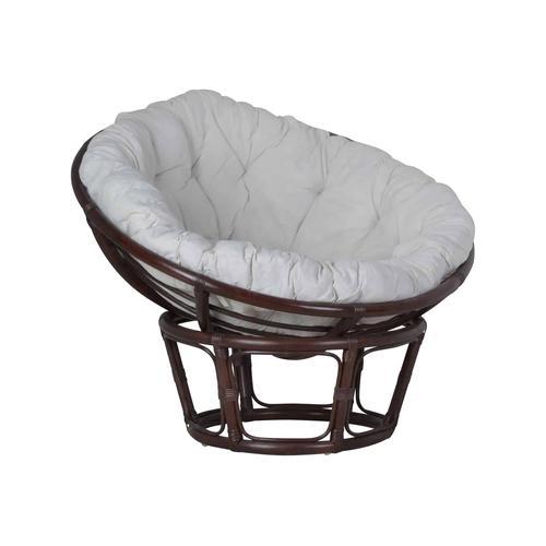 MiaMöbel Sessel 'Papasan' braun, Ø 100 cm 100% Baumwolle, Rattan Modern