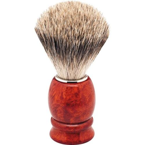 Erbe Shaving Shop Rasierpinsel Wurzelholz/silber