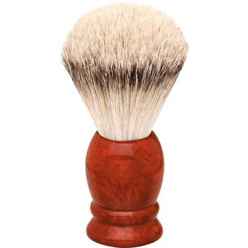 Erbe Shaving Shop Rasierpinsel Wurzelholz, Silberspitz