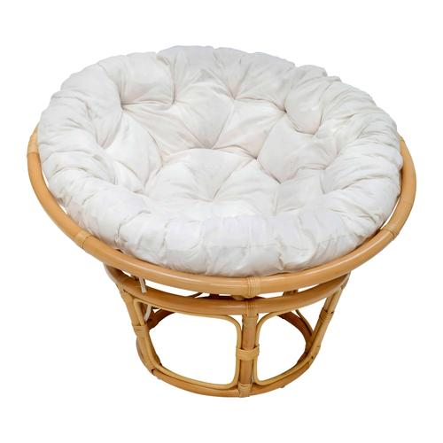MiaMöbel Sessel 'Papasan' honig, Ø 100 cm 100% Baumwolle, Rattan Modern