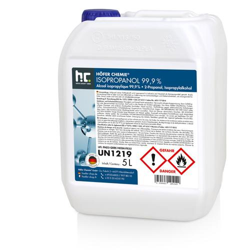 4 x 5 Liter Isopropanol 99,9%