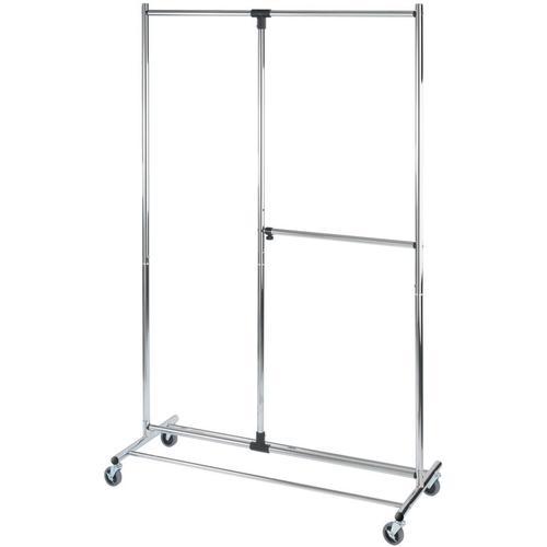 Wenko - Kleiderständer Garderobenständer Kleiderstange Standgarderobe Rollbar Profissimo