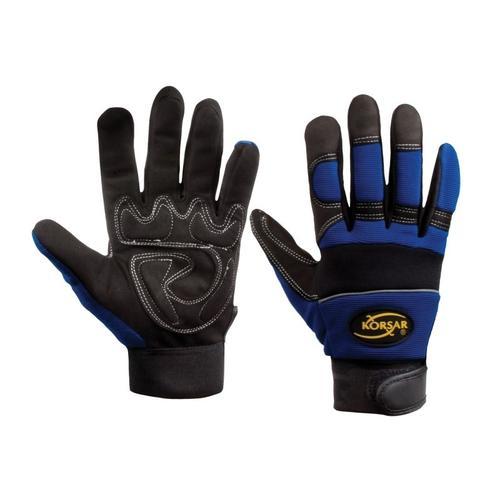Mechanikerhandschuh, Gr. 9, Blau-schwarz | SW-Stahl