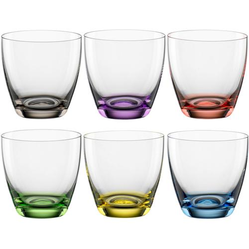 BOHEMIA SELECTION Glas VIVA COLORI, (Set, 6 tlg.), 6-teilig bunt Kristallgläser Gläser Glaswaren Haushaltswaren