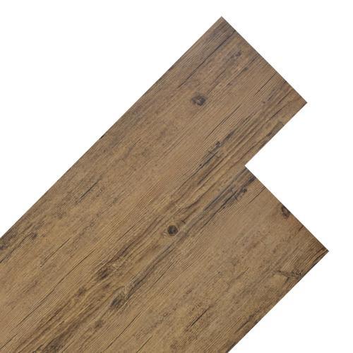 vidaXL PVC Laminat Dielen 5,26 m² 2 mm Walnuss-Braun