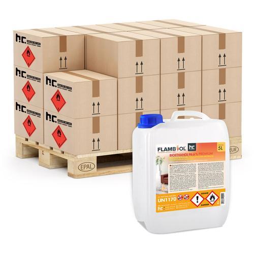 Höfer Chemie - 2 x 5 Liter Bioethanol 96,6% Premium für Ethanol-Brenner oder Kamine