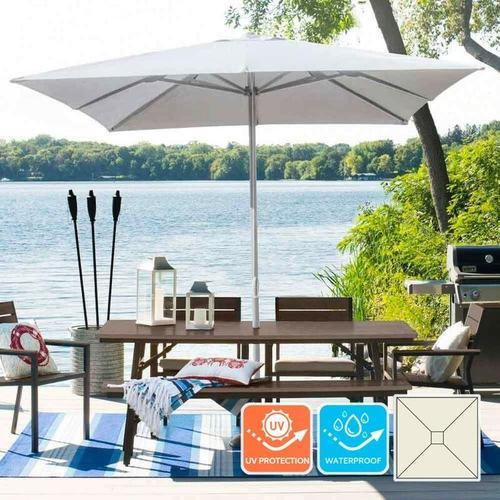 Gartenschirm 3x3 Sonnenschirm Alu mittelmast Quadratisch Café Hotel Marte | ohne Volant