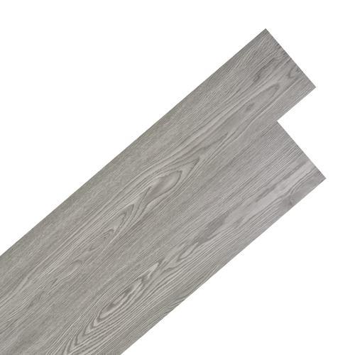 vidaXL PVC Laminat Dielen Selbstklebend 5,02 m² 2 mm Dunkelgrau
