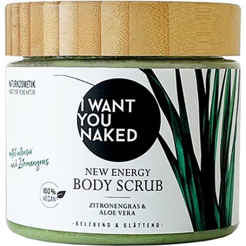I Want You Naked New Energy Scrub Körperpeeling Zitronengras & Aloe Vera 500 ml