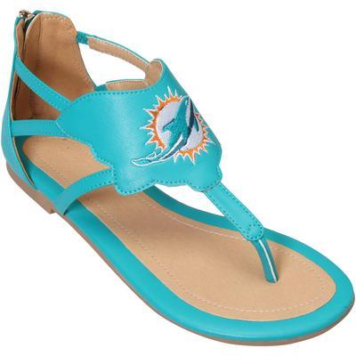 Women's Miami Dolphins Cuce Aqua Gladiator Sandals