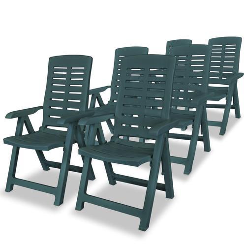 vidaXL Garten-Liegestühle 6 Stk. Kunststoff Grün