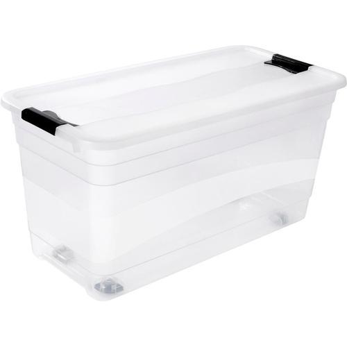keeeper Aufbewahrungsbox konrad, mit Rollen, 83 Liter farblos Körbe Boxen Regal- Ordnungssysteme Küche Ordnung