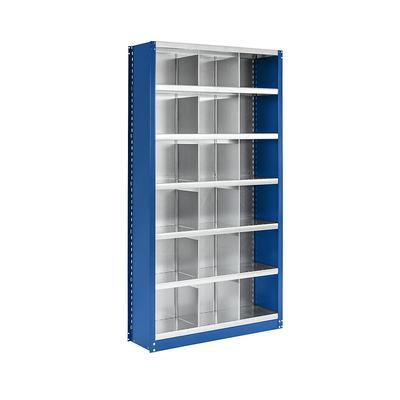 Rayonnage emboîtable modulaire, hauteur 1990 mm 18 casiers, l x p 1000 x 300 mm | EUROKRAFTpro