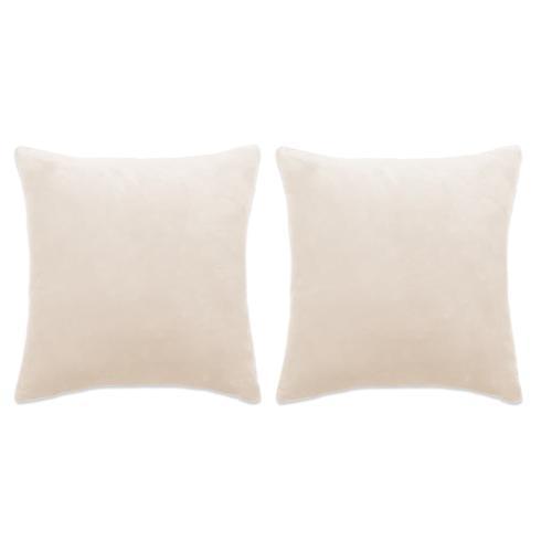 vidaXL Kissen-Set 2 Stk. Velours 60 x 60 cm Gebrochen Weiß