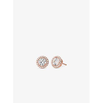 Michael Kors Precious Metal-Plated Sterling Silver Pavé Studs Rose Gold One Size