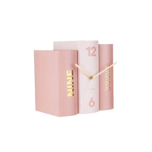 Present Time Tischuhr Book Pink