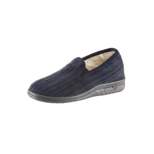 Landgraf Hausschuh blau Herren Hausschuhe Offene Schuhe
