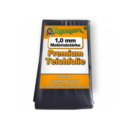 Teichfolie PVC 6m x 4m 1,0mm schwarz Folie für den Gartenteich