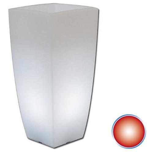 Harz-Blumentopf mod. Agave Eckig mit Rote Lampe 40x40 CM H90