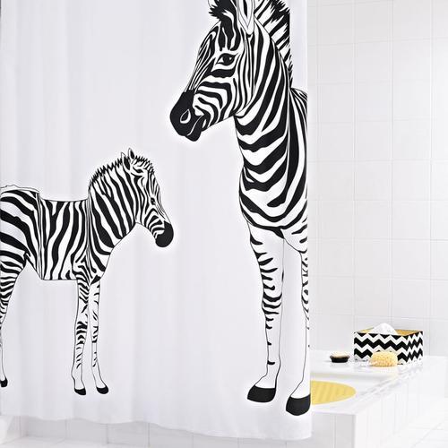 RIDDER Duschvorhang Zebra 180×200 cm