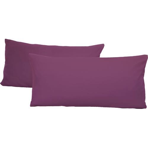 Schlafgut Kissenbezug Jersey, (2 St.), mit Aloe Vera Ausrüstung lila Kissenbezüge gemustert Kissen