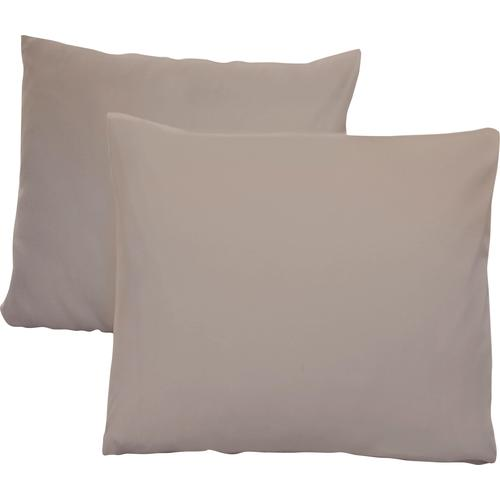 Schlafgut Kissenbezüge Jersey, (2 St.), mit Aloe Vera Ausrüstung grau gemustert Kissen