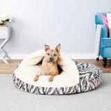 Snoozer Pet Products Orthopedic Microsuede Cozy Cave Dog & Cat Bed, Tempest Indigo, X-Large