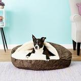Snoozer Pet Products Microsuede Cozy Cave Dog & Cat Bed, Palmer Dove, Large