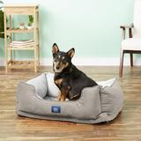 Serta Orthopedic Bolster Dog Bed w/Removable Cover, Gray