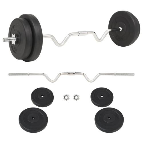 vidaXL Langhantel-Set 30 kg