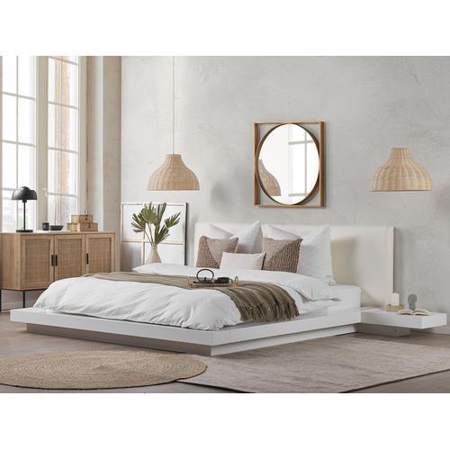Bett Weiß im japanischen Stil 180x200 cm