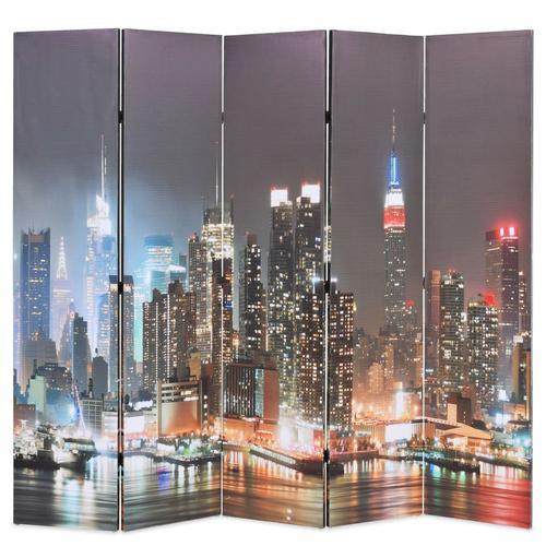 vidaXL Raumteiler klappbar 200 x 170 cm New York bei Nacht