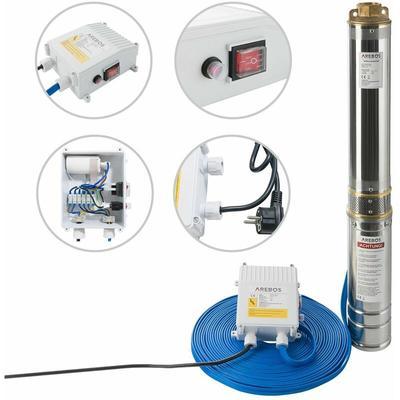 Canbolat Vertriebs Gmbh - AREBOS - pompe de puits profond (4 pouces, 1100 W, 4000 l/h) - argent