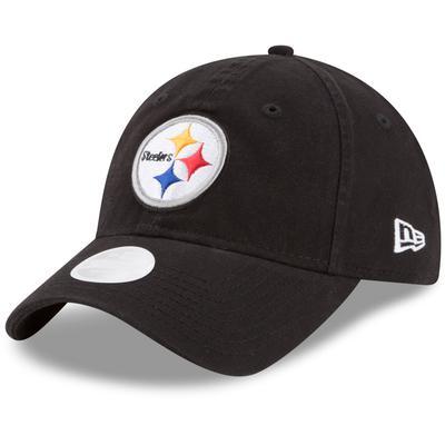 Women's Pittsburgh Steelers New Era Black Core Classic Primary 9TWENTY Adjustable Hat