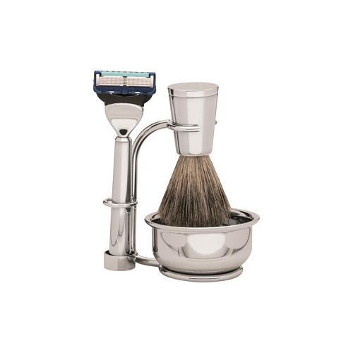 ERBE Shaving Shop Rasiersets Rasier-Set Gillette Fusion, 4-tlg. Rasierer + Ständer + Seifenschale + Pinsel aus Dachshaar 1 Stk.