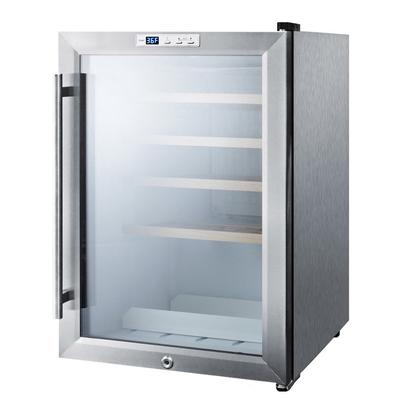 """Summit SCR312LWC2 17"""" One Section Wine Cooler w/ (1) Zone, 22 Bottle Capacity, 115v"""