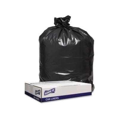 """""""Genuine Joe 1.6 Mil Trash Can Liners, 56 Gallon,43X47,black, 100 Bags (Gjo98211)"""""""