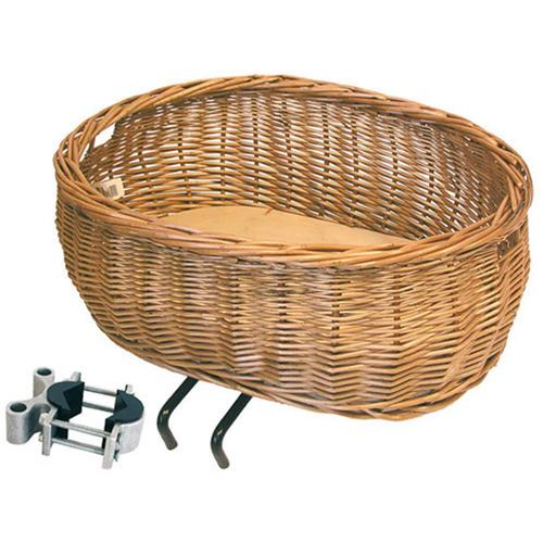 Basil Fahrradkorb Weidenkorb Pluto braun Rad-Ausrüstung Radsport Sportarten