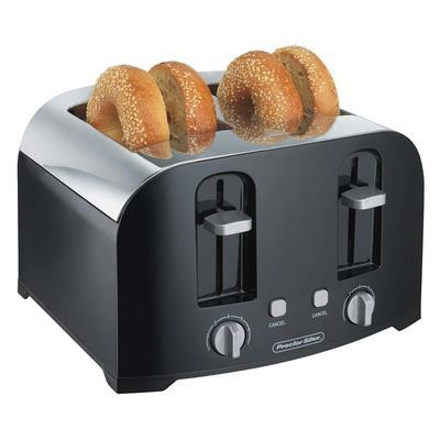 Hamilton Beach 24622 4 Slice Toaster w/ Shade Selector Dial, Black/Silver