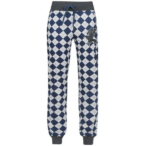 Harry Potter Ravenclaw Damen-Pyjama-Hose - grau blau - Offizieller & Lizenzierter Fanartikel