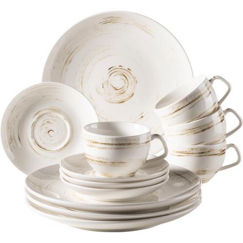 Home affaire Kaffeeservice, (12 tlg.), Porzellan weiß Geschirr-Sets Geschirr, Tischaccessoires Haushaltswaren Kaffeeservice
