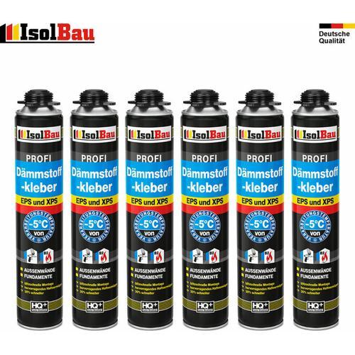 Isolbau - Dämmstoffkleber Klebeschaum 6x750 ml Pistolenschaum Kleber für Dämmung EPS XPS