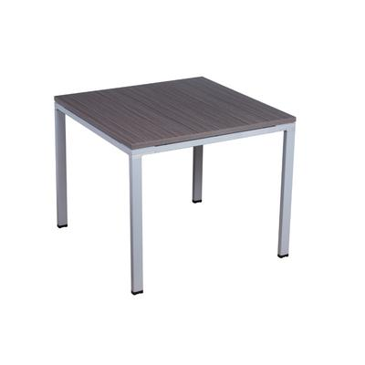 Boss Office Products S401 Meeting Table 36 X 36 in Driftwood/Silver