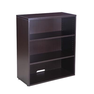 Boss Office Products N153-MOC Open Hutch/Bookcase in Mocha