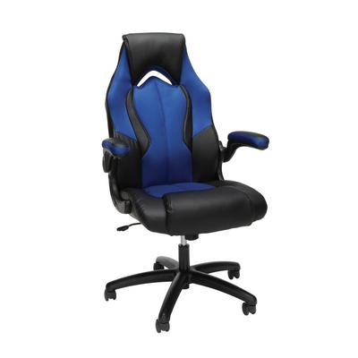 OFM Essentials Collection High-Back Racing Style Bonded Leather Gaming Chair in Blue - OFM ESS-3086-BLU