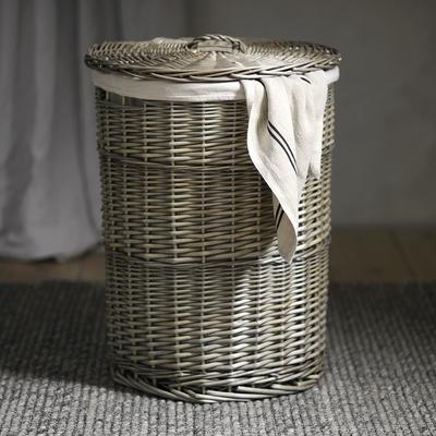 Large Lined Laundry Basket